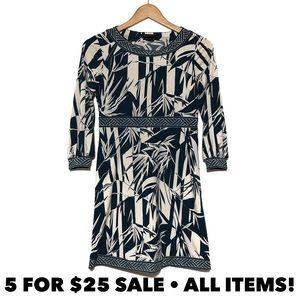 BCBG High Waist Printed Dress